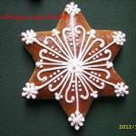 Karácsonyi mézeskalács csillagok